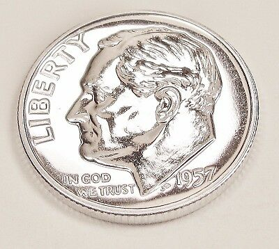 1957  Proof   Dime  90%  Silver  >Exact  Coin  Pictured <    #1024    6