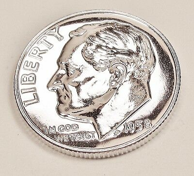 1958  Proof   Dime  90%  Silver  >Exact  Coin  Pictured <    #1024  1