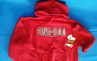 Coca Cola Red Hoodie LARGE MV Sport Pro Weave NEW