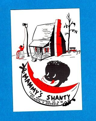 Vintage Black Americana Mammy's Shanty Children's Menu Atlanta Georgia