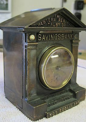 Antique Saving Bank:  The Western Reserve Trust Co  - Dating Circa 1910's