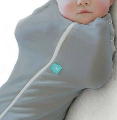 Ergo Cocoon Spring Swaddle & Sleep Bag 0-3 Months (1.0 tog) - GREY (RRP$42.95)