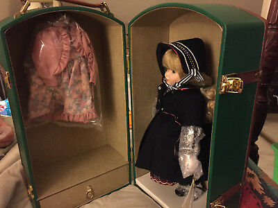 "Marie Osmond Porcelain Trunk Doll W/accessories  ""tricia"""