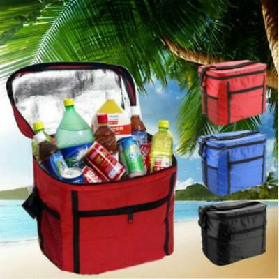 Portable Picnic Lunch Thermal Insulated Shoulder Bag Ice Cooler Box Storage Tote