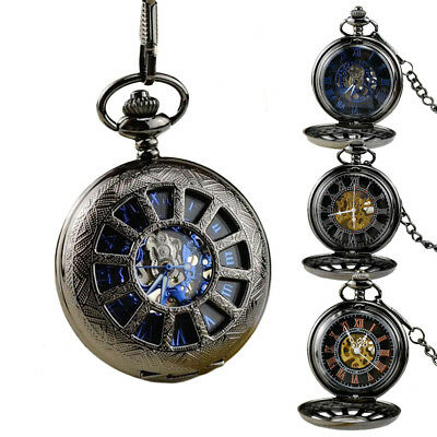 New Vintage Steampunk Pocket Watch Mechanical Hand-winding Antique Chain Watches