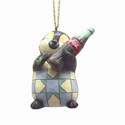 Jim Shore~Penguin W Coca-Cola Bottle~Taste The Love~Ornament~4059721~Christmas