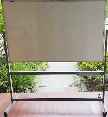 Double Sided Mobile Magnetic Whiteboard 1500 x 900