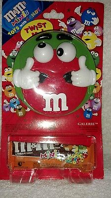 M&M's Minis Green Twist Me Toy With Rolling Eyes