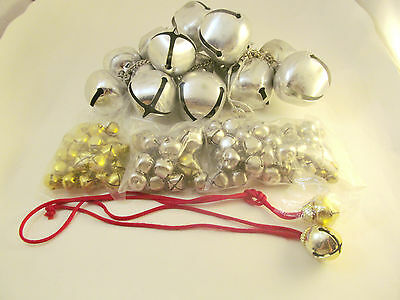 Sleigh Jingle Xtra Large  to Medium Bells Lot Of 100 +