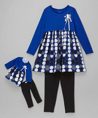 Dollie and Me Girls Tunic with leggings with Matching Doll Outfit Size 10 NWT