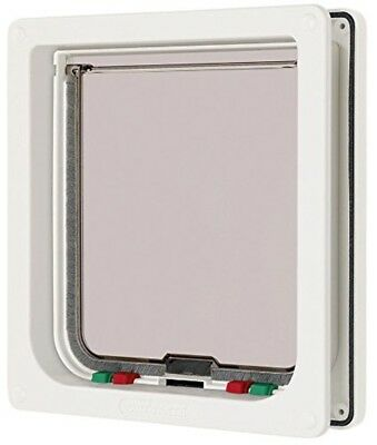 Cat Mate 4 Way Locking Large Cat Small Dog Flap White Catflap Pet Door 221 New