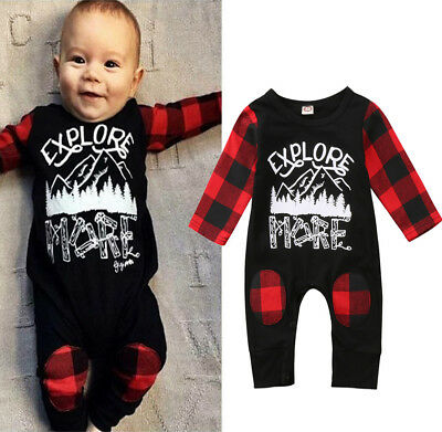 AU Xmas Toddler Baby Boys Girls Romper Jumpsuit Bodysuit Onepiece Clothes Outfit