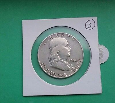 US 1948 D Franklin Silver Half Dollar