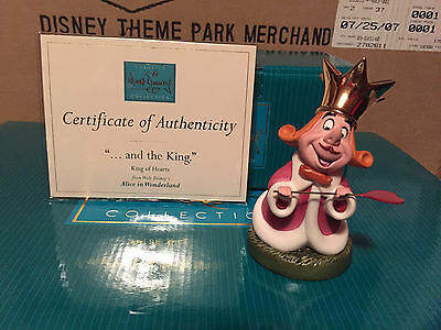 """WDCC Alice in Wonderland -  King of Hearts """"...And The King"""" New"""