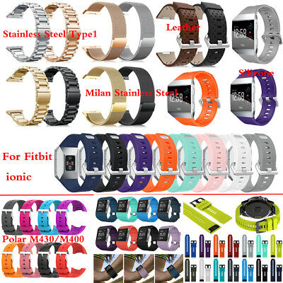 Replacement Stainless Steel Silicone Bracelet Sport Band Wrist Strap for Fitbit