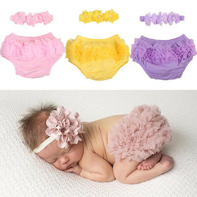 AU Stock Newborn Baby Girls Lace Ruffle Diaper PP Pants Skorts Tutu Skirt Shorts