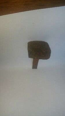 Antique Wrought Iron Nail (from 15th Century French Chateau Building)