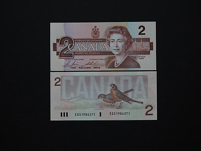 CANADA BANKNOTES  QEII  $2  Date 1986  - Top Colour and Images  Superb Mint UNC