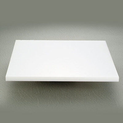 UHMWPE 500MMx 500mm x 100mm THICK PLASTIC POLYETHYLENE SHEET WHITE FREE POST