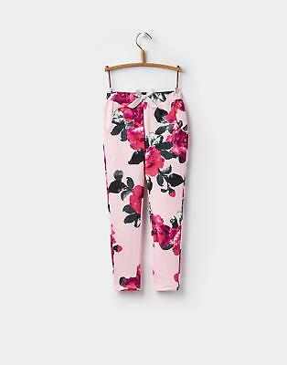 Joules Girls Jazz Jersey Trousers 1-6 Years in 100 % Cotton in Rose Pink Floral