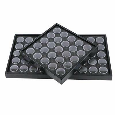 Nail Art Gems Storage Rhinestones Container Empty 25/50 Space Box Plate Tool Kit