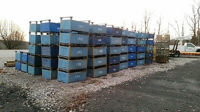 Industrial Factory Steel Metal  Basket Storage Parts Bin Container