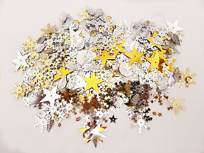 Assorted Sequins - Gold and Silver, pk of 20g