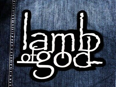 LARGE SIZE Lamb Of God Sew Iron On Patch Embroidered Rock Band Music Logo