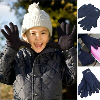Childrens Thinsulate Gloves Thermal Lined Warm Winter Gloves Boys Girls Kids