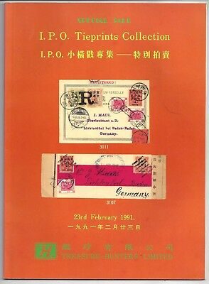 Stamp auction catalog I.P.O. Tie Prints Collection, 1991, Hong Kong -1/3rd OFF !