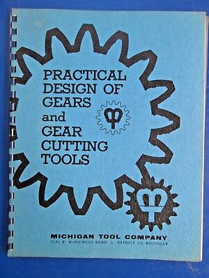 1962 Michigan Tool Company Design of Gears & Gear Cutting Tools Sales Brochure