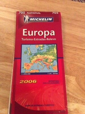 Europe Michelin National Map 705 Motoring and Tourist