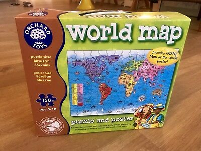 Orchard toys world map jigsaw plus free poster 280 1395 orchard toys world map jigsaw puzzle educational games boxed gumiabroncs Image collections