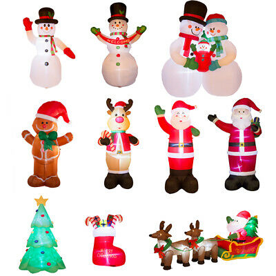 Christmas Inflatables.Glitzhome 14styles Snowman Santa Led Lighted Christmas Inflatables Outdoor Decor