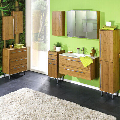bambus waschtischunterschrank bambusschrank badm bel waschbecken unterschrank eur 54 95. Black Bedroom Furniture Sets. Home Design Ideas