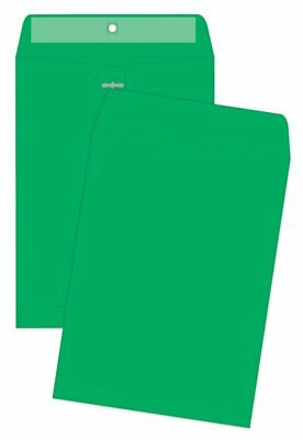 Quality Park® Clasp Envelopes, 9 x 12 inches, Green, Pack of 10 (38735)