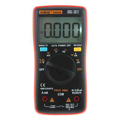 AN8008 True-RMS Digital Multimeter 9999 Zählt Square Wave AC DC Voltage Ammeter