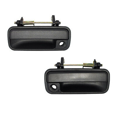 2- 90-93 Honda Accord Sedan Door Handles Black Outside Exterior Outer LH RH