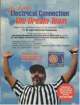 St Louis' Electrical Connection  PRINT AD 1998 IBEW Local #1 NECA Unions  Rare