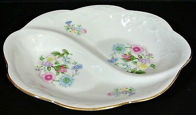 AYNSLEY Wild Tudor Twin Section Serving Dish Small China  *1008