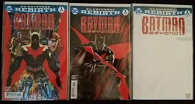 Batman Beyond #1 Regular & Variant & Blank Rebirth Dc Comics Brand New 2016