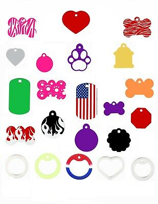 Custom Engraved Dog Cat Pet ID Tag Made in the USA FREE SHIPPING wont rub off !