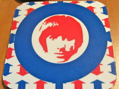 KEITH MOON 4 COASTER MOUSEPAD The Who '60s MOD target FOUR NEW Drink Mouse Pad