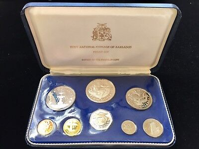 First National Coinage of Barbados 1973 Proof Set, Franklin Mint, 2 silver coins