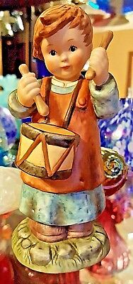 Berta Hummel ~ Nativity ~ Drummer Boy Figurine ~  BH53 ~ 1998 ~ Goebel ~ Retired