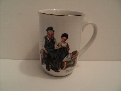 Norman Rockwell Museum 1982 Vintage The Lighthouse Keeper's Daughter China Cup