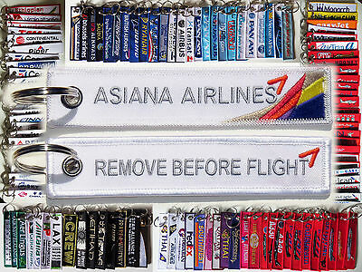 Keyring ASIANA Airlines Remove Before Flight tag keychain