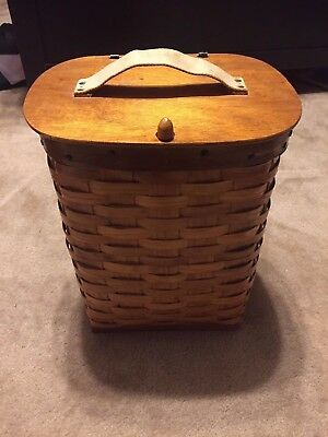 Vintage CLINT ISHMAN Hand Woven TRAPPERS BASKET