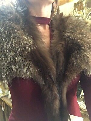 Gorgeous Vintage Bay's Furs Mink Fur Collar with Head VERY ELEGANT AND CLASSY