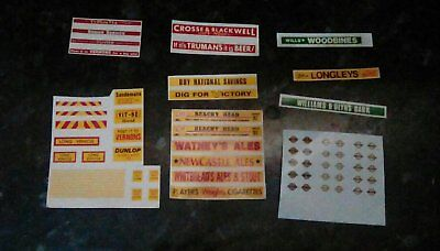 Bus Truck Railway 1:76 OO scale Waterslide Transfer Decals for EFE/CORGI Etc